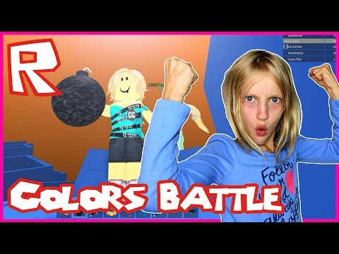Roblox Red VS Blue VS Green VS Yellow / Taking Over The World