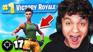 Reacting To My Little Brothers *FIRST* WIN on Fortnite Battle Royale