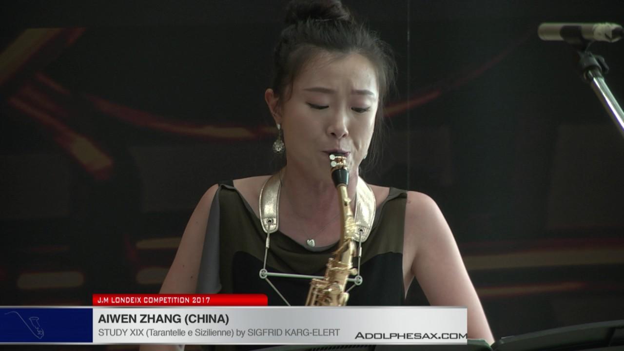 Londeix 2017 - Aiwen Zhang (China) - XIX Tarantelle e Sizilienne by Sigfrid Karg Elert