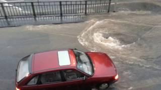 Schlimmste Unwetter Über Rüdesheim seit Jahrzehnten 12.06.15 - Hauptstraße wird überflutet