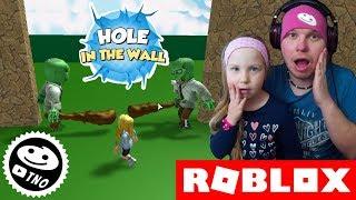 BLÁZNIVÉ PROSKAKOVÁNÍ ZDÍ - Hole In The Wall | Roblox | Tatínek a Barunka CZ/SK