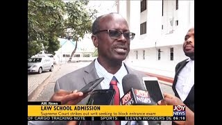 Law School Admission - AM News on JoyNews (19-7-18)