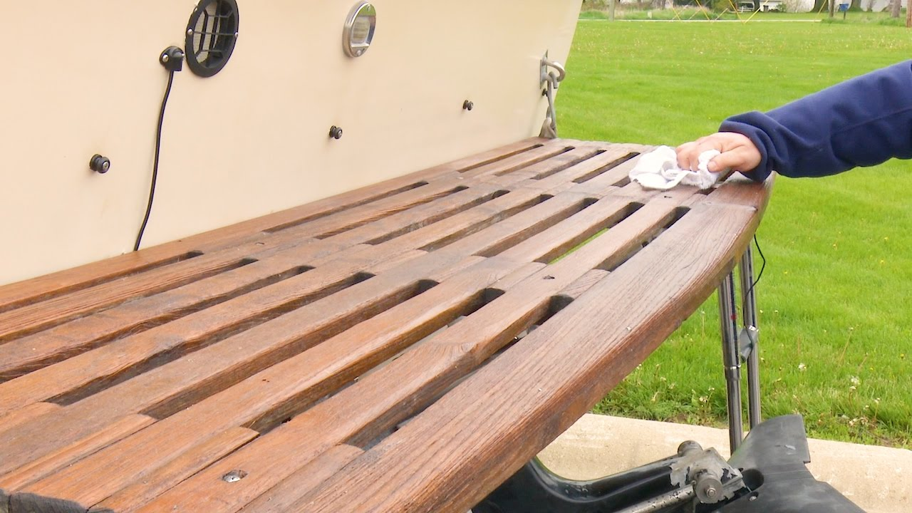 Re Teak With Iosso Cleaner
