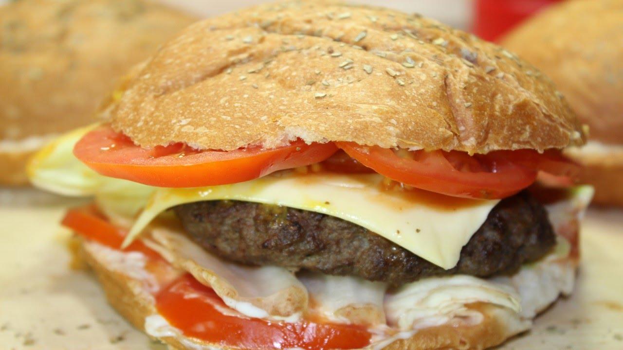 سر عمل الهمبرجر بمكونات بسيطة و نتيجة رائعة مثل المطاعم Beef Burger Youtube