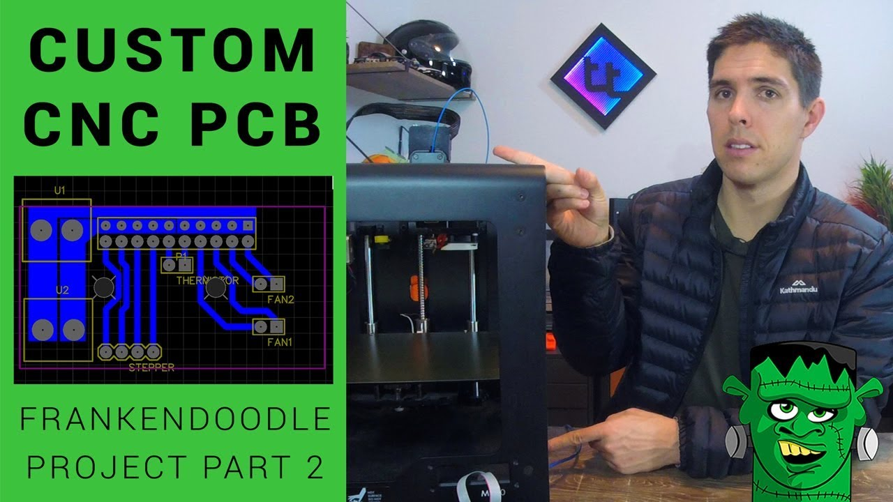 Making a custom PCB: Frankendoodle open source Zortrax part 2