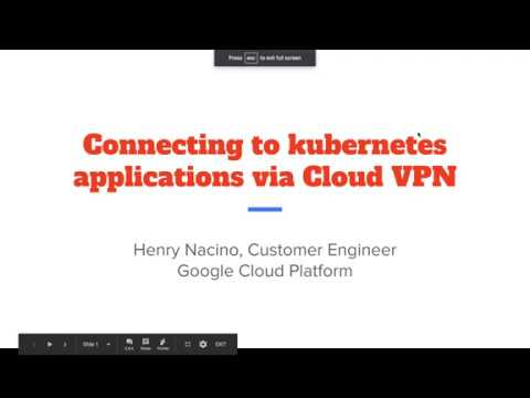 accessing kubernetes applications via cloud vpn using private ip addresses