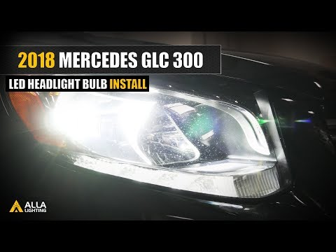 How To Replace 2015-2018 Mercedes-Benz GLC300 Headlights w/ H7 LED Bulbs