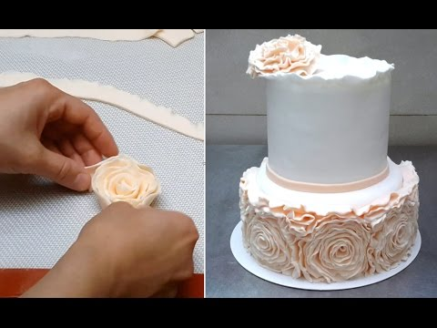 how to make ruffle roses on wedding cake simple ruffle wedding cake how to by 15987