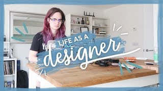 Feeling unproductive... | Life as a Designer Vlog