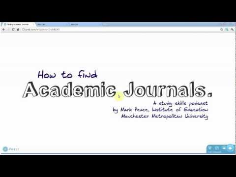 Finding Academic Journals