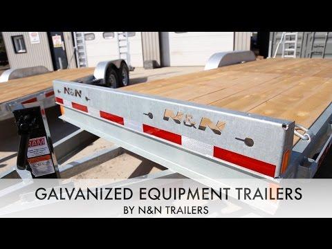 Galvanized N&N Equipment Trailers - ACTION TRAILERS TUTORIALS