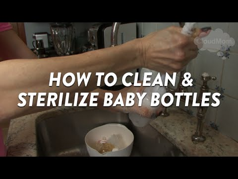 How To Clean And Sterilize Baby Bottles Cloudmom Youtube