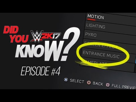 WWE 2K17: Did You Know? Custom Entrance Theme Mixes, Crowd Glitches & More! (Episode 4)