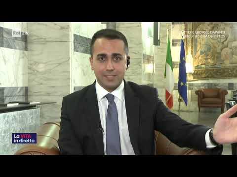 Luigi DI Maio ospite a La Vita in Diretta Rai1 10/03/020