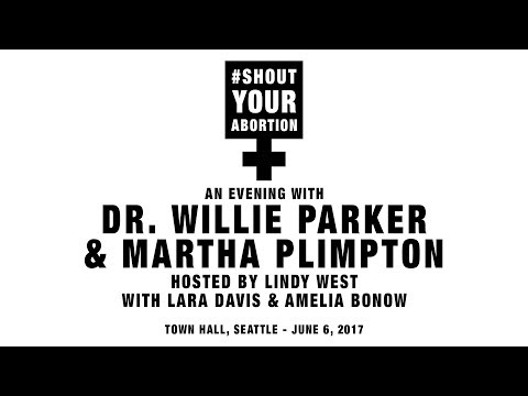 An evening with Dr. Willie Parker - Pt 6 - Martha Plimpton and Dr. Willie Parker