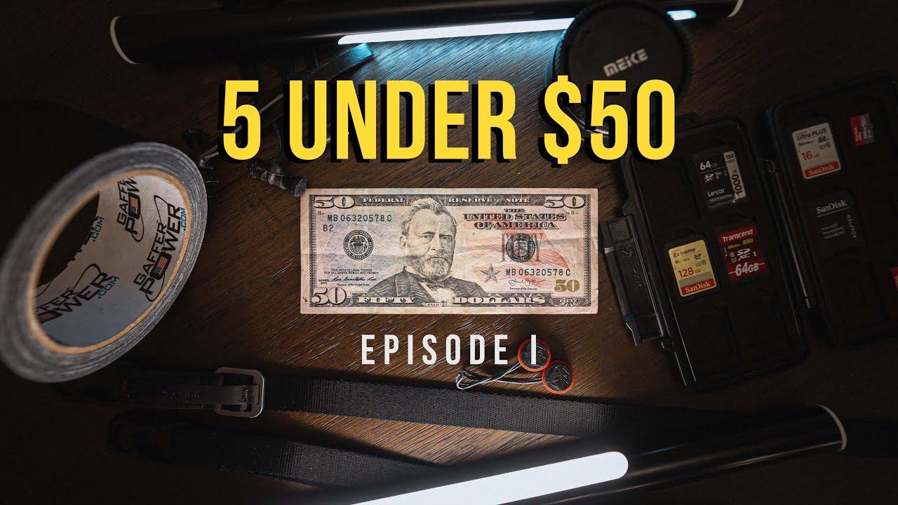 5 camera accessories under $50!