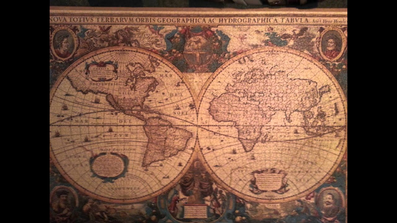 Antique world map puzzle 5000 pieces youtube gumiabroncs Images
