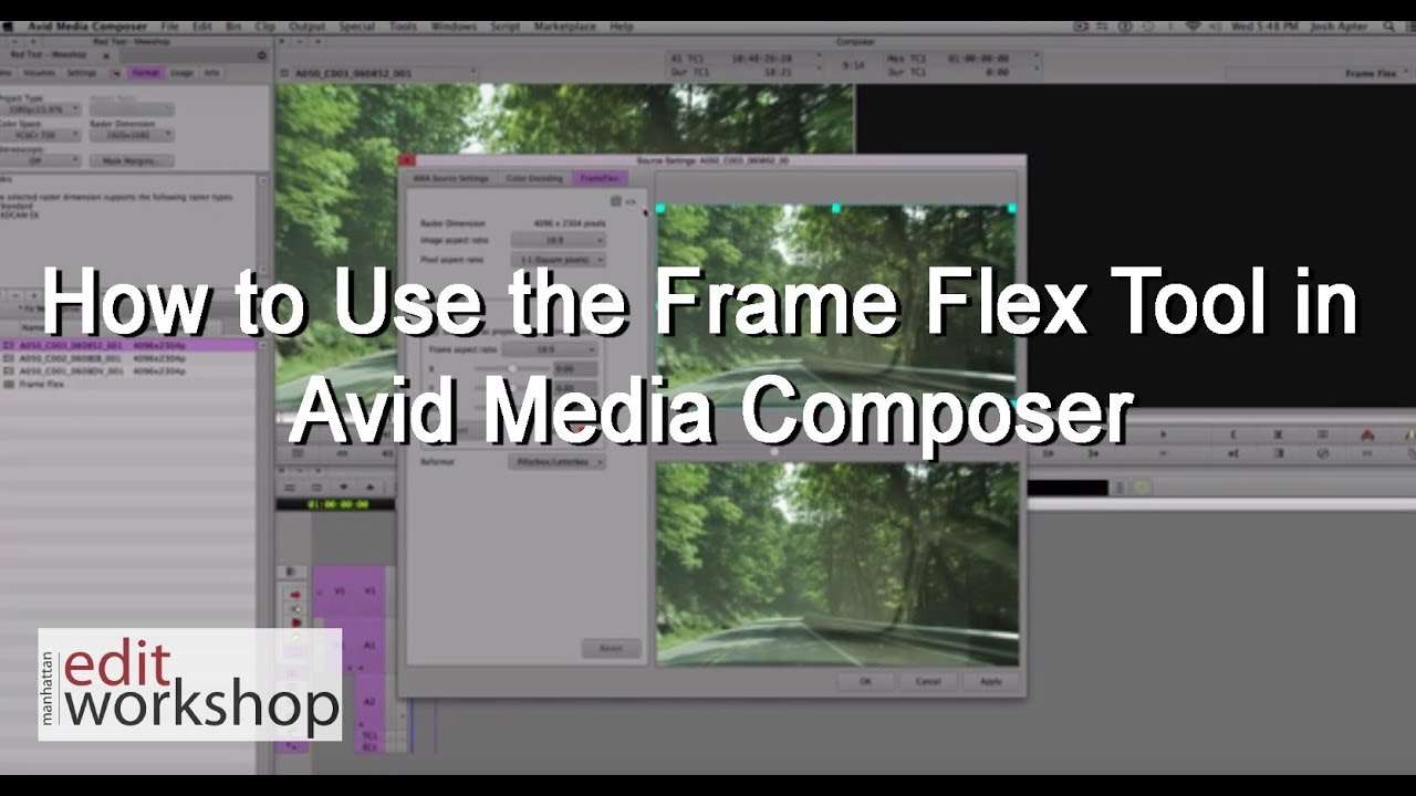 How to Use the Frame Flex Tool in Avid Media Composer