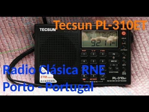 Radio FM de Espanha recebida no Porto (Portugal) RNE-CLASS - Tecsun PL-310ET