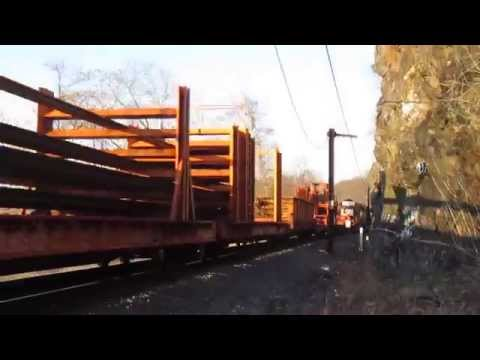 Port Road Welded Rail Train with NS 6336 and 3401