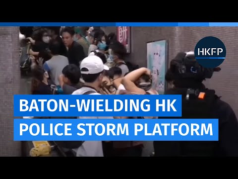 Baton-wielding Hong Kong police storm Prince Edward MTR station [August 31, 2019]