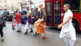 Hari Krishna Group dancing in London August 2014