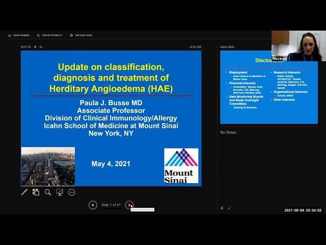 Update of Classification, Diagnosis and Treatment of Hereditary Angioedema (HAE)