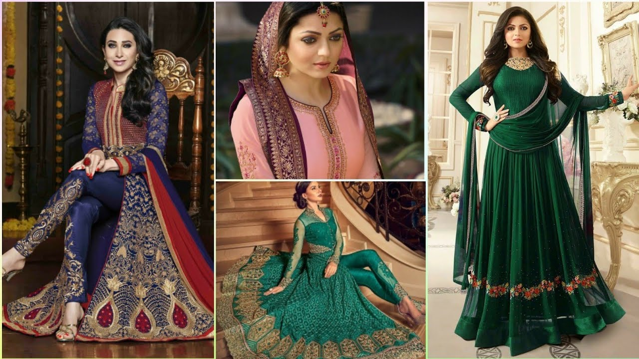 indian_dress #fashion افضل تشكيله فساتين هندية للحفلات / موديلات ساتره  للانيقات🥰  YouTube