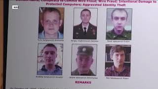 US charges six members of Russian military intelligence over cyberattacks
