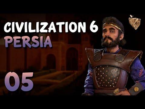 """Civilization 6 Pérsia #05 """"Passando o trator na Polônia"""" - Vamos Jogar Gameplay Português PT-BR"""