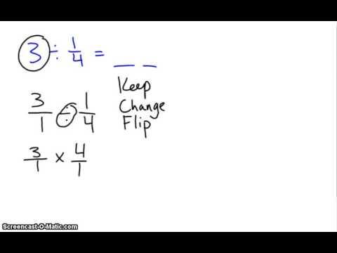 Keep, Change, Flip- Dividing Fractions