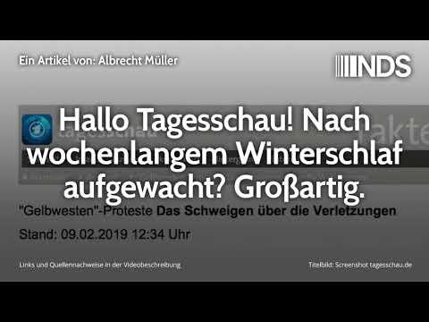 Hallo Tagesschau! Nach wochenlangem Winterschlaf aufgewacht? Großartig | Albrecht Müller