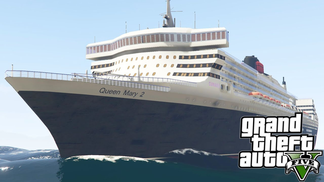 Gta v 2003 rms queen mary 2 youtube for Garderobe queen mary 2