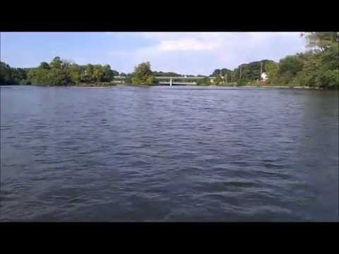 Crossing the Fox River In Oswego IL Aug 2011