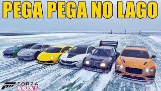 FORZA HORIZON 4 - PEGA PEGA NO LAGO CONGELADO DE PORSCHE 918 SPYDER - GAMEPLAY