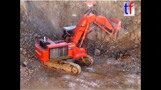 **GIANT** HITACHI EX1200 Super & KOMATSU HD605, Quarry / Steinbruch, Germany, 17.01.2008.