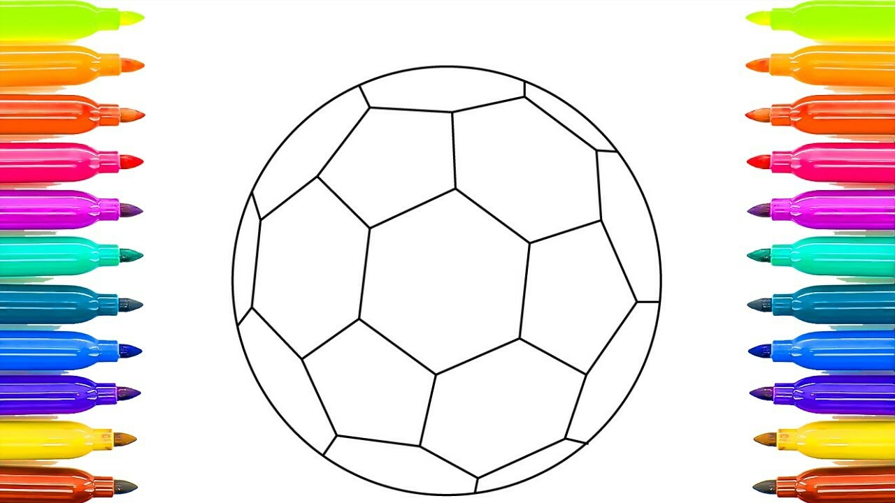 How to Draw and Paint Soccer Ball | Colouring Videos and Teach ...