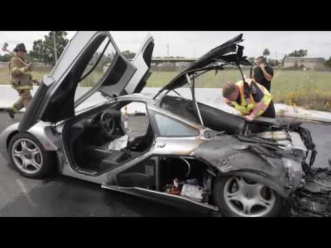 McLaren F1 Destroyed By Fire