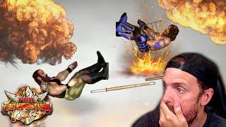 EXPLODING LANDMINE DEATHMATCH VS PULSE !!! - Fire Pro Wrestling World