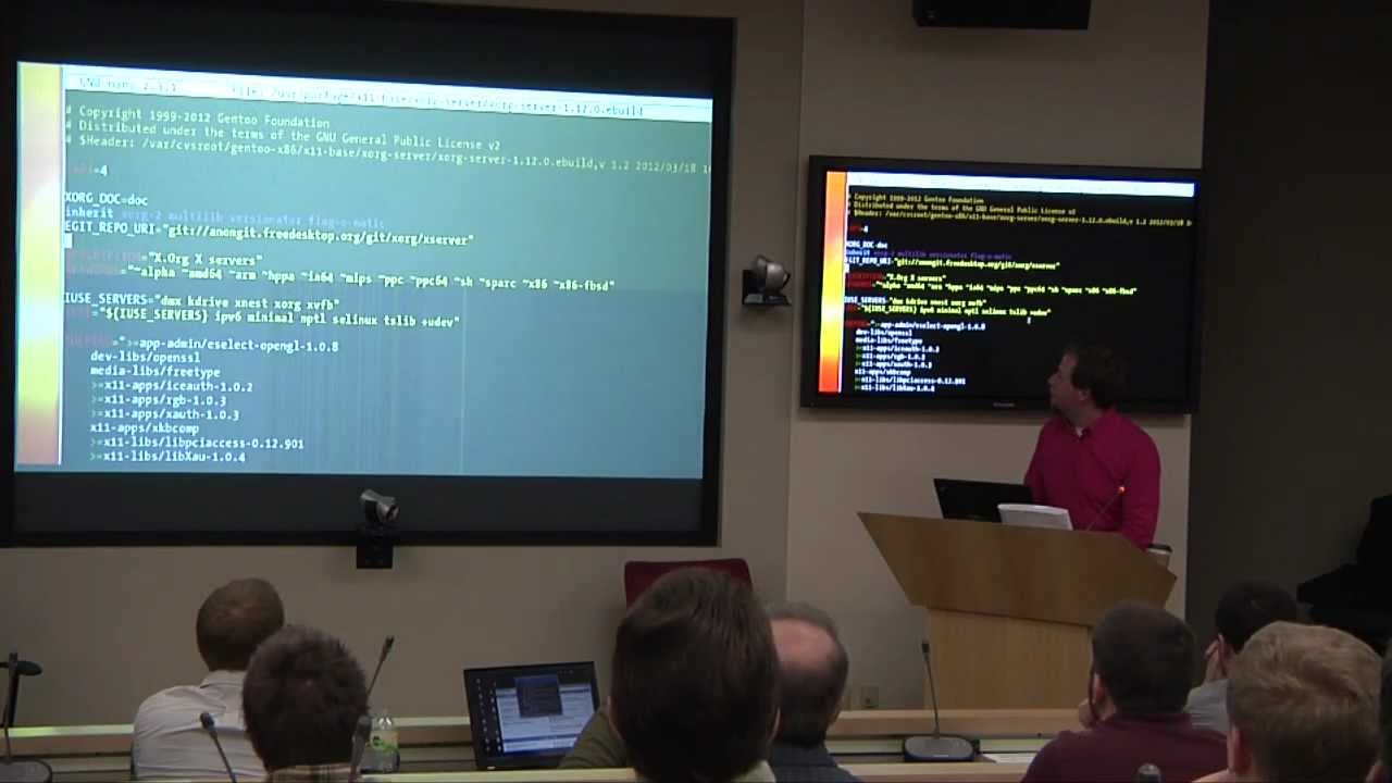MinneBar 7: Gentoo Linux, or Why in the World You Should Compile Everything