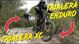 DIFERENCIAS TÉCNICAS EN TRIALERA EN MODO ENDURO O CROSS COUNTRY | DANIEL RACE