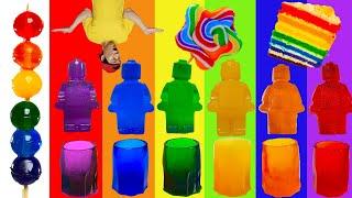 Rainbow Desserts 무지개 치즈 로프젤리 레인보우 디저트 먹방 JJAEMI째미 ASMR (Eati…