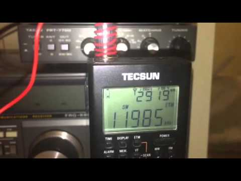 11985 KHz NHK World Radio Japan transmitting from Madagascar