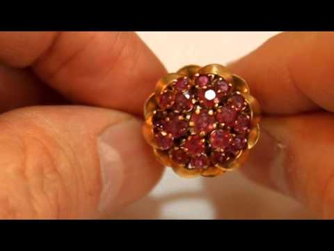 Antique 18k Gold Ruby Ring
