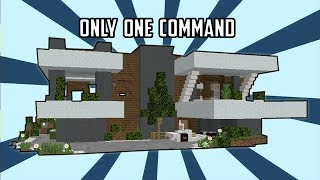 💯Minecraft: Super Modern House In One Command