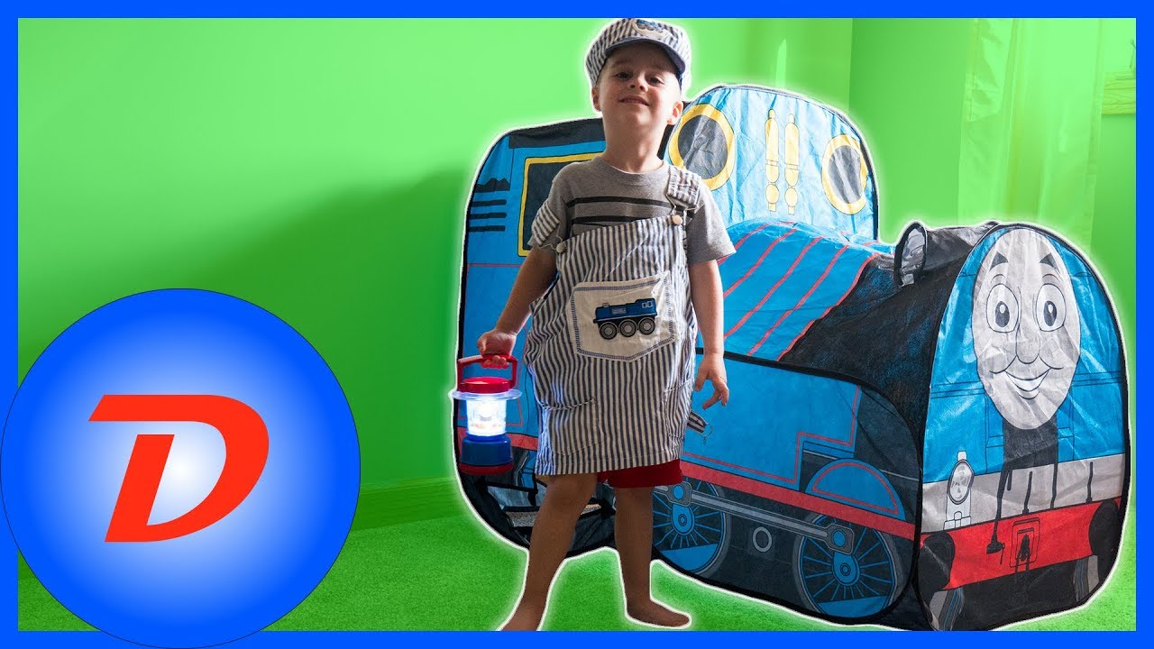 Thomas the Train Indoor Pop Up Tent Costume Play  sc 1 st  YouTube & Thomas the Train Indoor Pop Up Tent Costume Play - YouTube