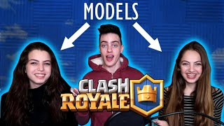 PRO PLAYER VS TWO MODELS!?! (Clash Royale insane 1 vs 2)