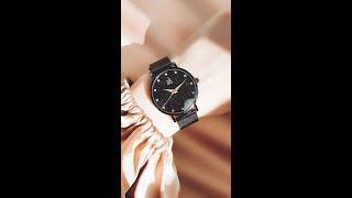 Фото Красивые часы с искристым циферблатом и гранями на стекле Shengke с Aliexpress Irenka235