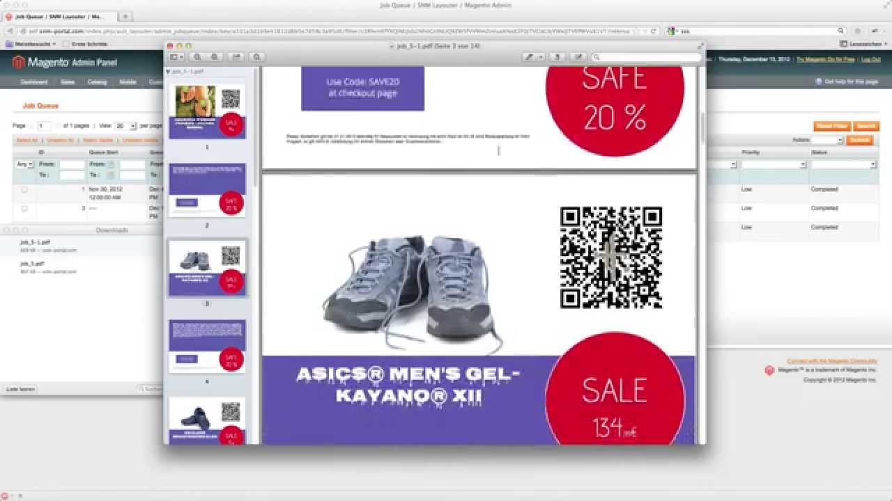 Magento Sales Flyer - Tutorial: create flyer from template - YouTube