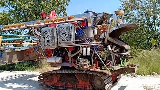 รถเกี่ยวนวดข้าว-ศุภกรเจริญ-การช่าง-ขึ้นเทรลเลอร์-combine-harvester